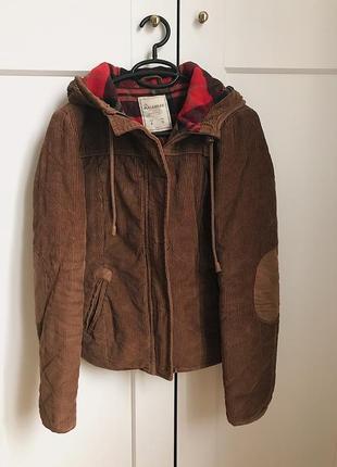 Коричневая шерстяная куртка с капюшоном h&m zara mango!2 фото