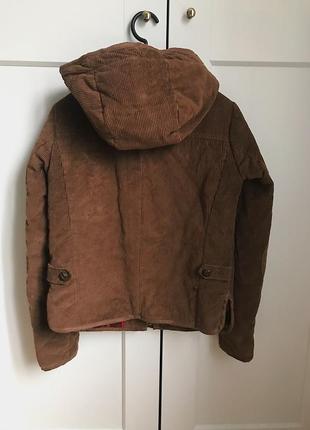 Коричневая шерстяная куртка с капюшоном h&m zara mango!4 фото
