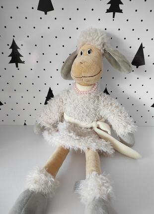Интерьерная кукла овечка в стиле тильда декор от lava