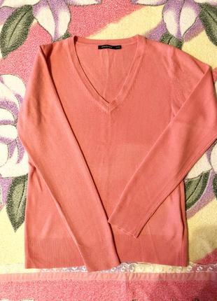 Джемпер кофта свитер розовый тонкий