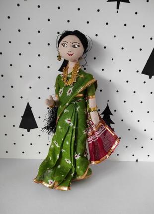 Интерьерная кукла из текстиля индианка