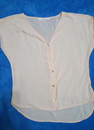 Нежно-персиковпя блуза