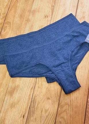 Комплект трусиков из 2 штук, размер l, цвет джинс