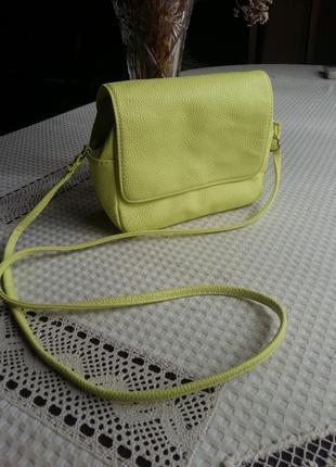 Лимонная сумка кроссбоди h&m