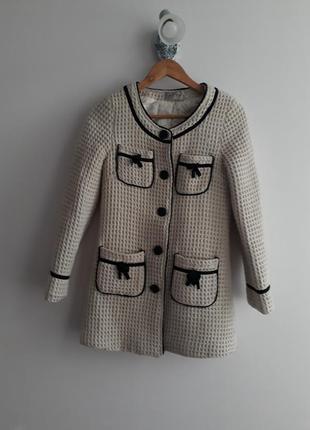 Пальто пиджак в стиле шанель на тонком синтепоне