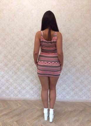 Платье мини стрейч