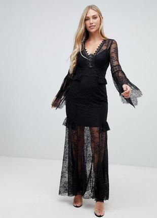Кружевное платье макси asos