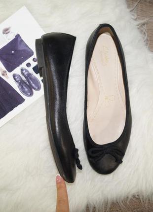 (37,5р./24,5см) clarks! кожа! красивые классические туфли