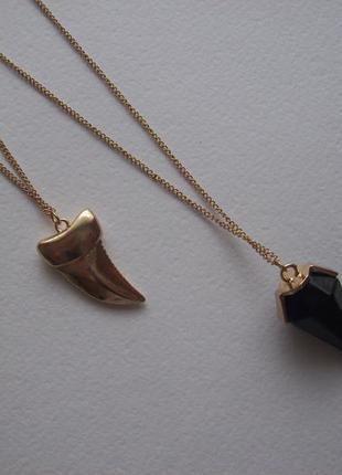 Акция!распродажа!набор из двух подвесок акулий зуб геометрия колье цепочка кулон