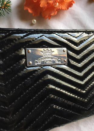 Лаковый кошелек кредитница визитница