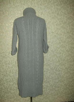 Вязаное теплое ,очень стильное платье massimo dutti3