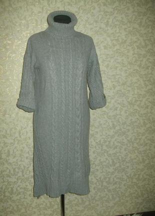 Вязаное теплое ,очень стильное платье massimo dutti2