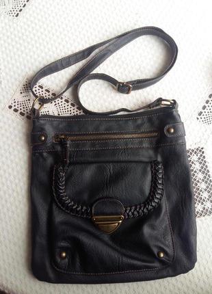 Черная сумка кроссбоди atmosphere