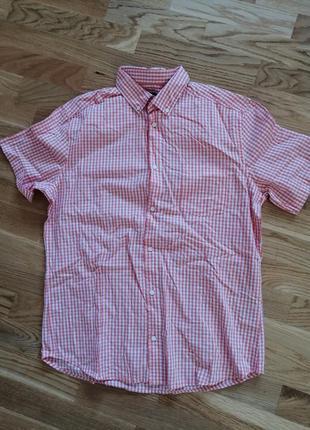 Рубашка kiabi slim fit короткий рукав