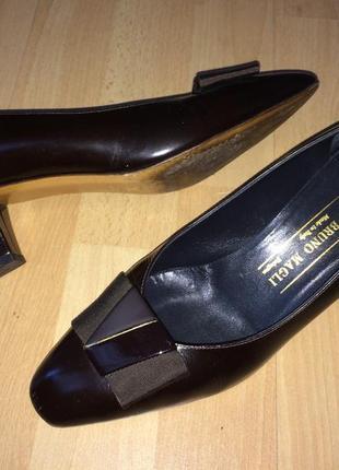 Bruno magli стильные винтажные туфли из натуральной кожи