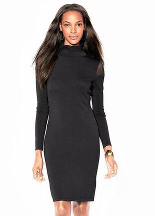 Платье трикотажное ralph lauren с прозрачными вставками по плечам l -50р