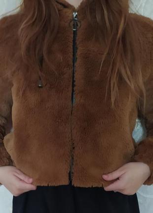 Шубка тедди коричневого цвета 😍
