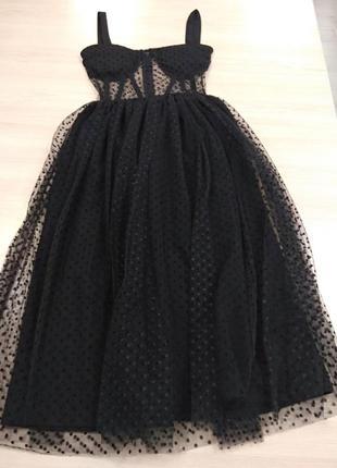 Красивое платье с имитацией корсета2 фото