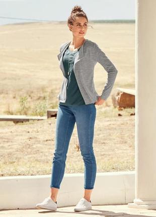 Стильные плотные джинсовые треггинсы от тсм tchibo (чибо), германия, размер xs-s