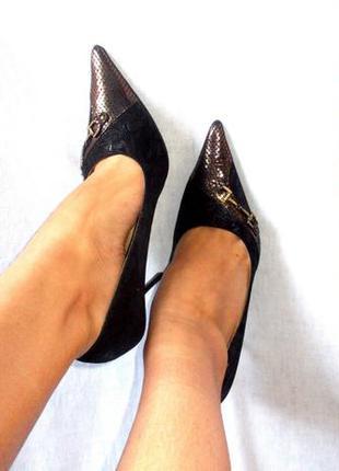 Total sale распродажа! базовые туфли лодочки с острым носком черные коричневые на шпильке