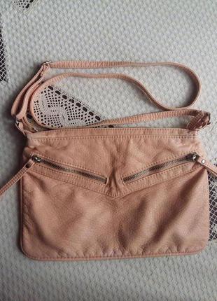Персиковая сумка кроссбоди atmosphere