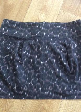 Тигровая юбочка из коттона с эластином