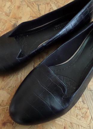 Балетки marks and spencer black натур кожа 41-42 размер