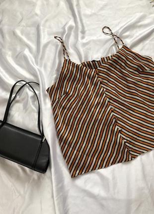 Майка блуза в полоску на пуговицах
