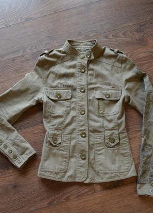 Жакет в стиле милитари dept, куртка без подкладки