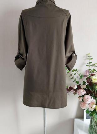 Хлопковая рубашка,блузка,блуза в полоску,большого размера,реглан,батал,оверсайз с принтом9 фото