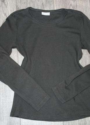 Темно-коричневый лонгслив - s/m