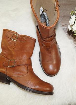 (37р./24,5см) bianco! кожа! красивые стильные сапоги, ботинки