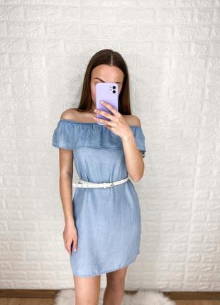 Платья джинс с открытыми плечиками от h&m💙