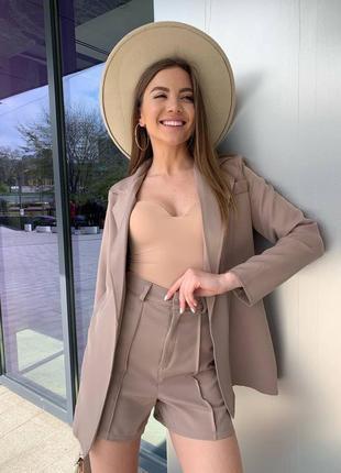 Женский костюм пиджак шорты жакет