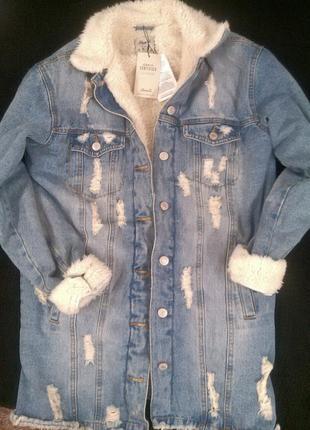 Тренд сезона! молодежная джинсовая курточка! утепленная.
