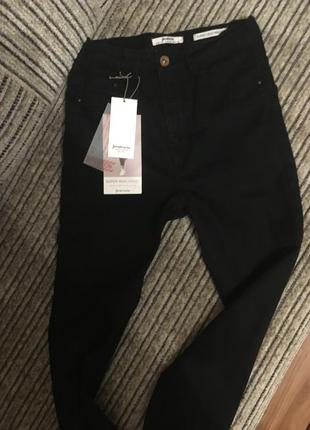 Чёрные джинсы с высокой талией skinny jeans  , super high waist