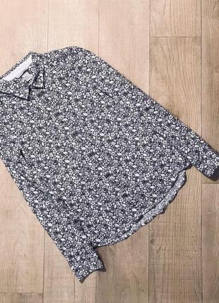 """Рубашка блуза в цветочный принт """"h&m"""""""