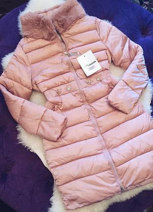 Стильная куртка на холлофайбере зима 2017 в наличии два цвета