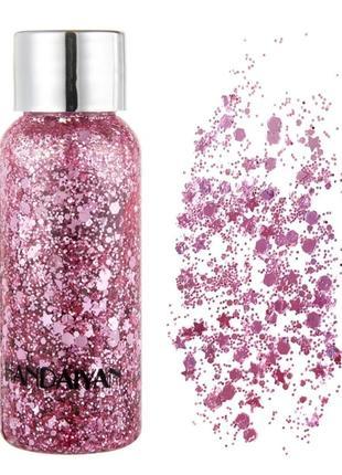 Глиттер для кожи, розовые блестки для лица и тела, жидкий глиттер, блесточки