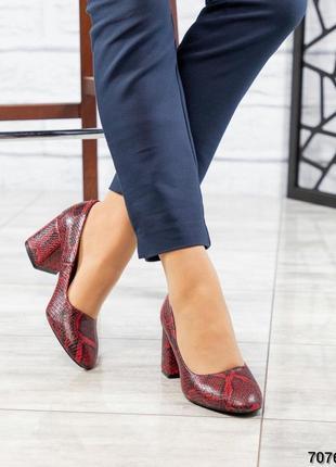 Кожаные туфли лодочки натуральная кожа2 фото