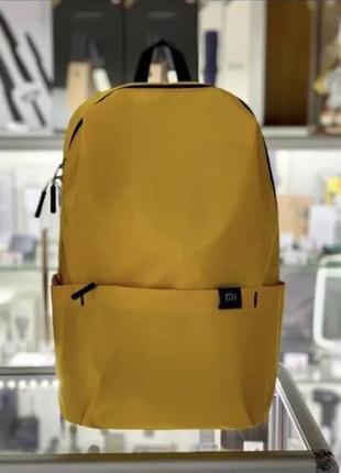 Желтый небольшой яркий водонепроницаемый городской рюкзак xiaomi mi casual daypack