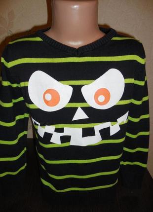 Веселый коттоновый свитерок kiki&koko, 98 размер1 фото