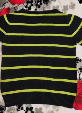 Веселый коттоновый свитерок kiki&koko, 98 размер3 фото