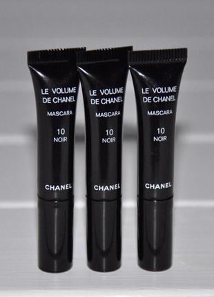 Тушь для придания объема chanel le volume de chanel mascara объем мини 1мл