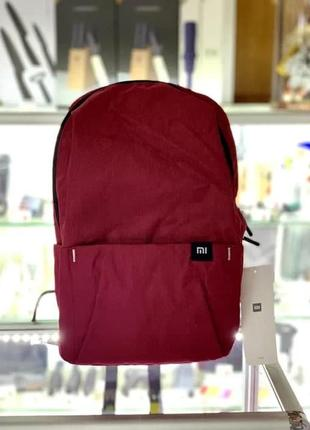 Бордовый небольшой яркий водонепроницаемый городской рюкзак xiaomi mi casual daypack