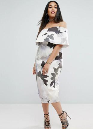 Asos роскошное платье-футляр цветочный принт
