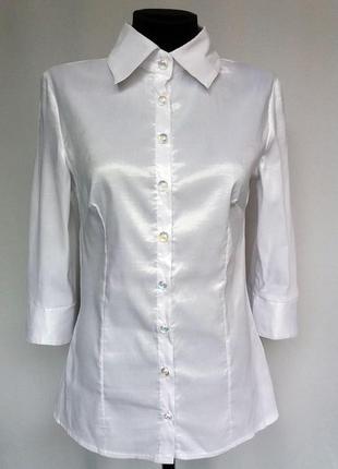 Суперцена. стильная белая рубашка. турция. новая, р. 42-44