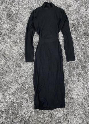 Плаття в рубчик з шикарною спинкою bershka