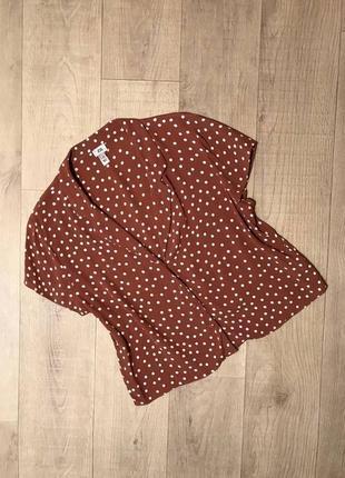 Шикарная блуза в горошек river island 100% вискоза