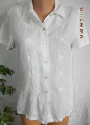 Блуза-рубашка лен